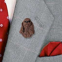 Cocker Spaniel Brown Pin