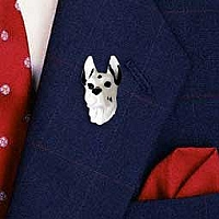 Great Dane Harlequin Pin