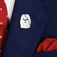 Shih Tzu White Pin