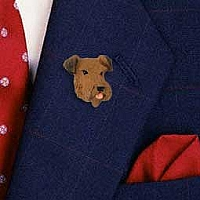 Airedale Pin
