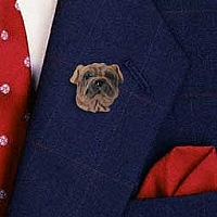 Shar Pei Brown Pin