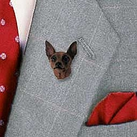 Miniature Pinscher Red & Brown Pin
