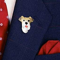 Wire Fox Terrier Red Pin