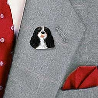 Black & White Cavalier King Charles Pin