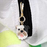 Bulldog Brindle Zipper Charm