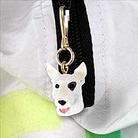 Bull Terrier Zipper Charm