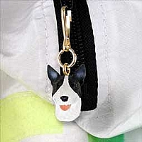 Bull Terrier Brindle Zipper Charm
