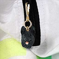 German Shepherd Black Zipper Charm