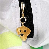 Golden Retriever Zipper Charm
