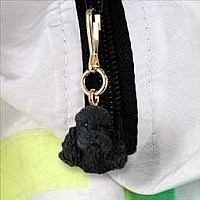 Poodle Black w/Sport Cut Zipper Charm