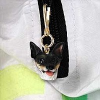 Rat Terrier Zipper Charm