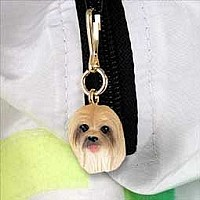 Lhasa Apso Brown Zipper Charm