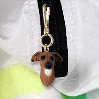 Italian Greyhound Zipper Charm