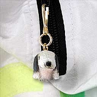 Bedlington Terrier Zipper Charm