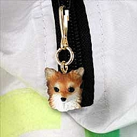 Chihuahua Longhaired Zipper Charm