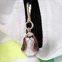 Cocker Spaniel Brown & White Zipper Charm