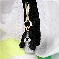 Cocker Spaniel Black & White Zipper Charm