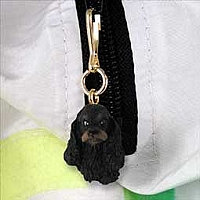 Cocker Spaniel Black & Tan Zipper Charm