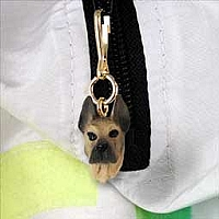 Great Dane Fawn Zipper Charm