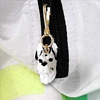 Great Dane Harlequin Zipper Charm