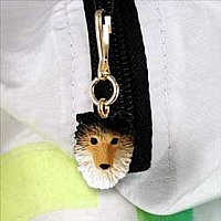 Sheltie Sable Zipper Charm