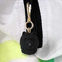 Chow Black Zipper Charm