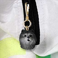 Chow Blue Zipper Charm