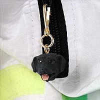 Labrador Retriever Black Zipper Charm