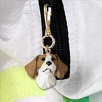 Brittany Brown & White SpanielZipper Charm