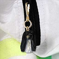 Afghan Black & White Zipper Charm