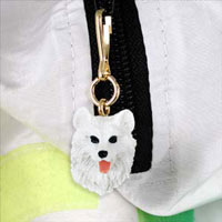 Samoyed Zipper Charm