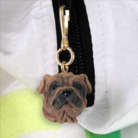 Shar Pei Brown Zipper Charm