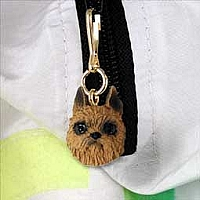 Brussels Griffon Red Zipper Charm