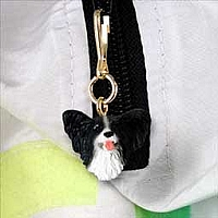 Papillon Black & White Zipper Charm