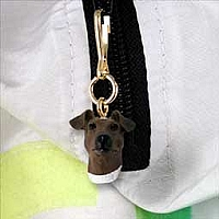 Fox Terrier Brown & White Zipper Charm