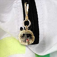 Cairn Terrier Red Zipper Charm