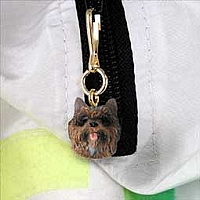 Cairn Terrier Brindle Zipper Charm