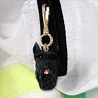 Schnauzer Giant Black Zipper Charm