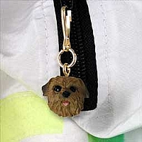 Norfolk Terrier Zipper Charm