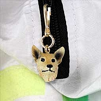 Australian Cattle Red Dog Zipper Charm