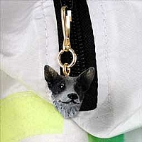 Australian Cattle BlueDog Zipper Charm