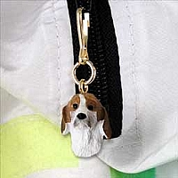 American Foxhound Zipper Charm