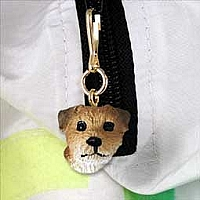 Border Terrier Zipper Charm
