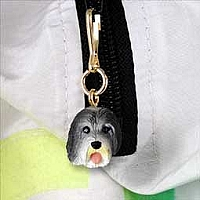 Bearded Collie Zipper Charm