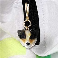 Australian Shepherd Brown w/Docked Tail Zipper Charm