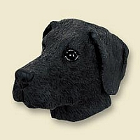 Great Dane Black w/Uncropped Ears Magnet