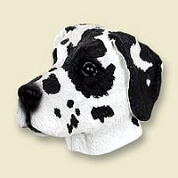 Great Dane Harlequin w/Uncropped Ears Magnet