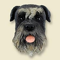 Schnauzer Gray w/Uncropped Ears Magnet