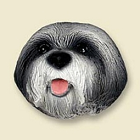Lhasa Apso Gray w/Sport Cut Magnet