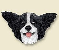 Papillon Black & White Magnet